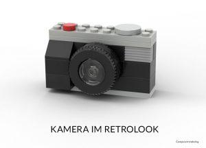 Retrokamera aus Noppensteinen
