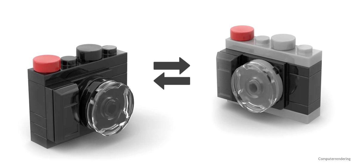 Minikamera aus Klemmbausteinen