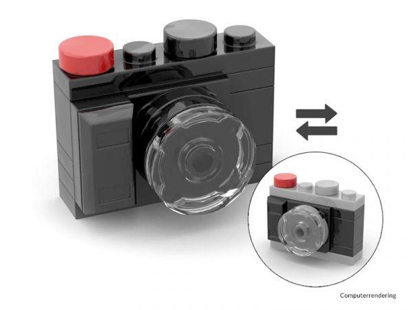 Minikamera aus Noppensteinen