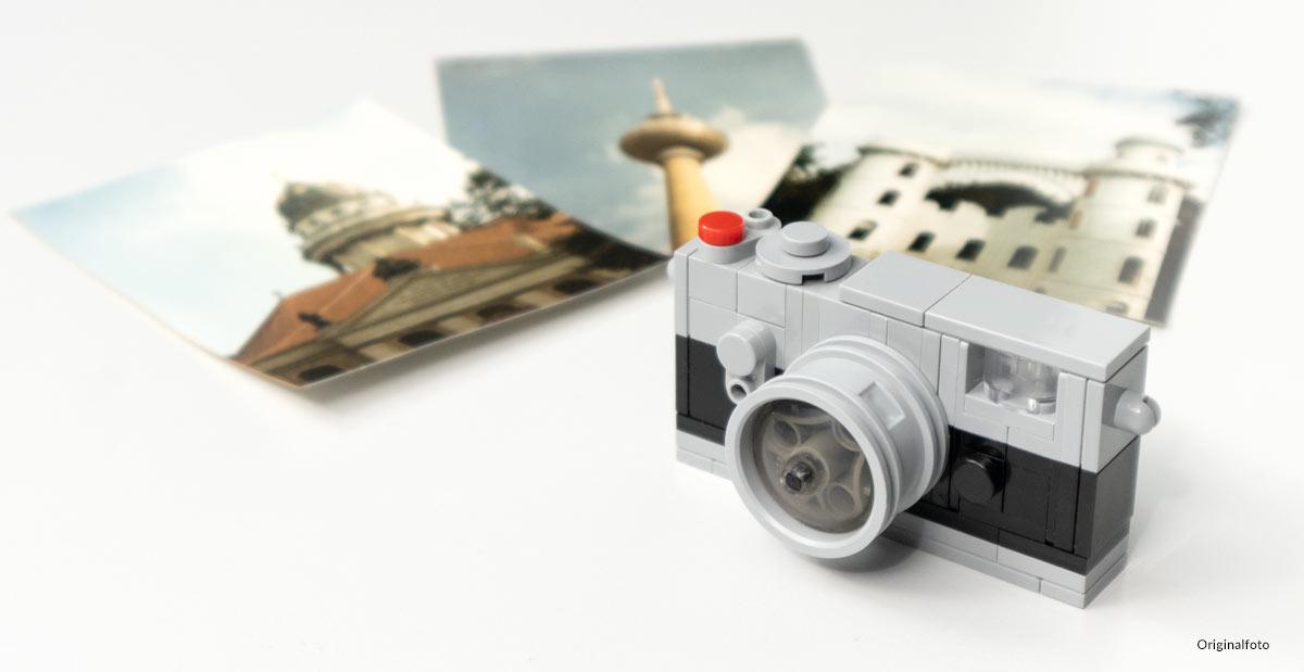 Kamera aus Klemmbausteinen