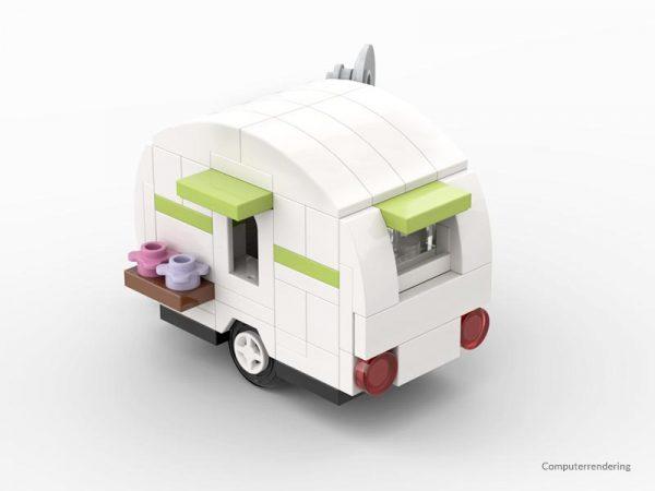 Kleiner Caravan aus Noppensteinen